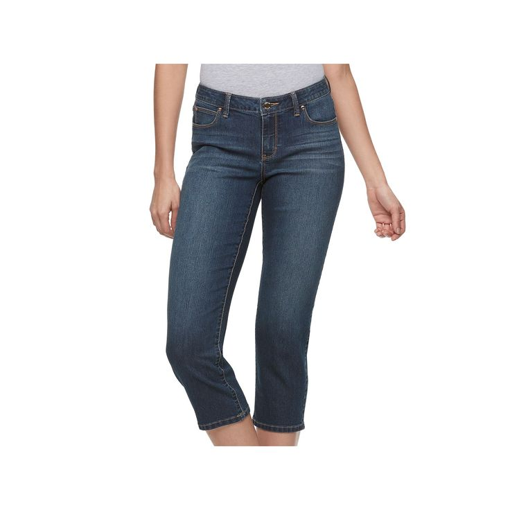 Women's Jennifer Lopez Cropped Straight-Leg Jeans, Size: 2 - regular, Med Blue
