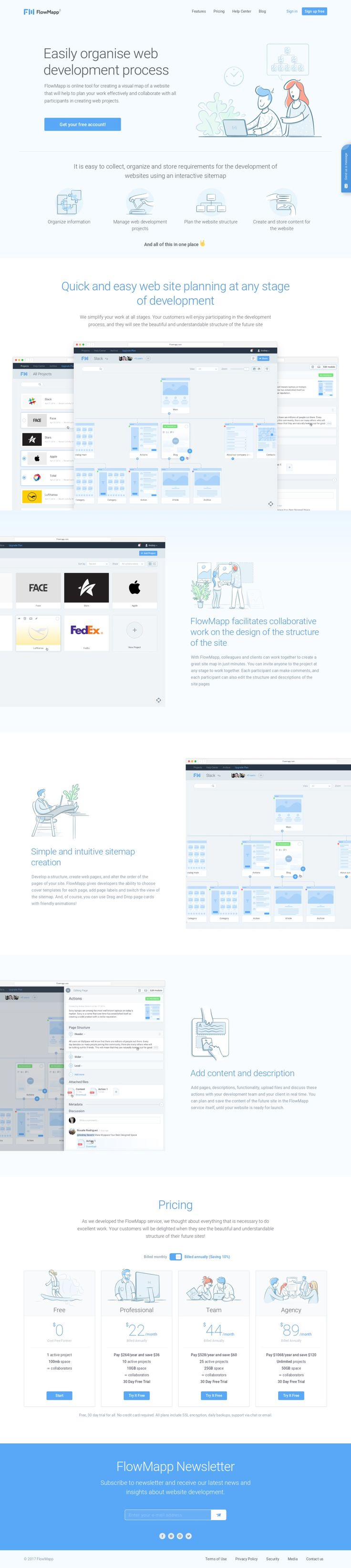 FlowMapp – Powerful visual sitemap tool for planning website development and collaborate with others