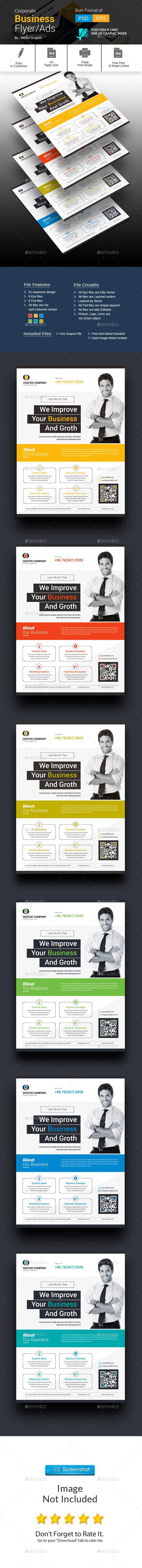 Corporate Flyer Template PSD, EPS, AI #design Download: http://graphicriver.net/item/corporate-flyer/13610888?ref=ksioks