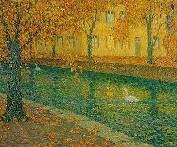 Canal à Annecy / Henri Eugene Le Sidaner