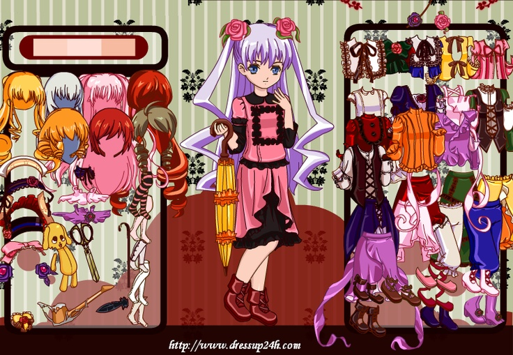 Rozen Maiden Dress Up Game Up game, Anime, Playing dress up