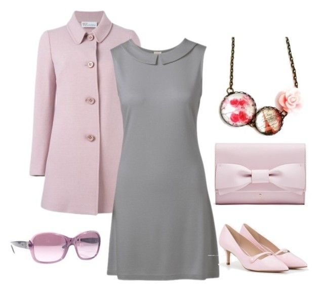 """""""Szürke és pink"""" by hemos on Polyvore featuring RED Valentino, CHARLES & KEITH and Ralph Lauren"""