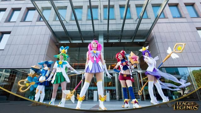 Star Guardians Cosplay from LAS http://las.leagueoflegends.com/es/news/community/community-spotlight/guardianas-estelares-auroras-australes #games #LeagueOfLegends #esports #lol #riot #Worlds #gaming
