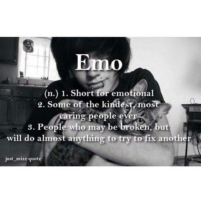 "this is why i don't really mind getting called ""emo"" anymore  (used to hate it…"