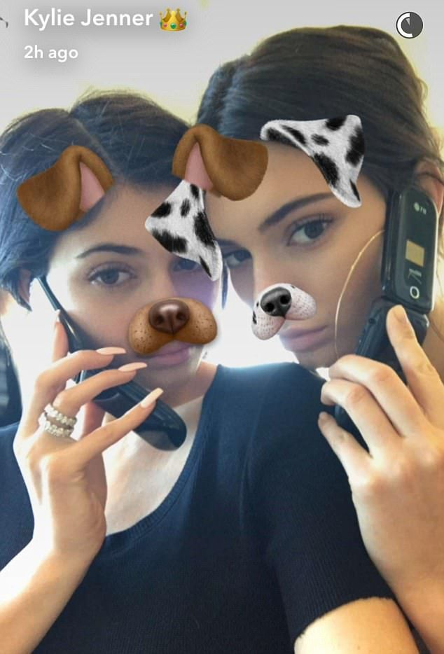 Silly:Kendall and Kylie Jenner got to spend some quality time with each other and had a blast, messing around with their own flip phones