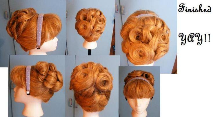 Cinderella hair - wig styling tutorial