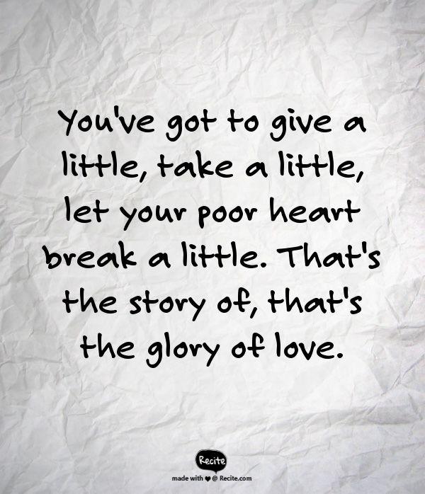 "The Glory of Love. -William Joseph ""Billy"" Hill"