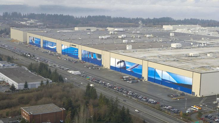 La fábrica de Boeing en Everett