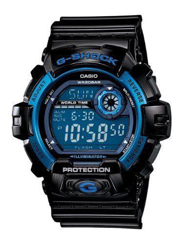 Casio Men's G8900A-1CR G-Shock Black and Blue Resin Digital Sport Watch #Casio
