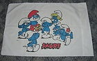 Vtg 80's SMURF 3-pc Flat Fitted Twin Size Bed Sheet Set w/Pillowcase Excellent - 80's, excellent, Fitted, FLAT, Sheet, size, Smurf, TWIN, w/Pillowcase