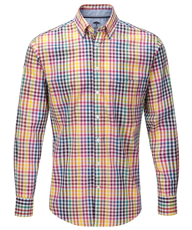 Premium long staple cotton from Peru adds the soft touch to the Fynch-Hatton Coloured Combi Shirt http://www.outdoorandcountry.co.uk/Mens-Fynch-Hatton-Coloured-Combi-Shirt.html