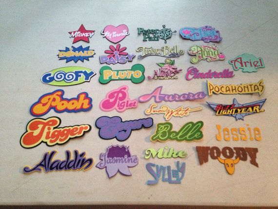 Set of 52 Disney character names by scrappinbjs. Explore more products on http://scrappinbjs.etsy.com