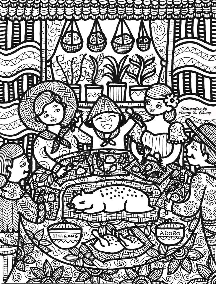 Feast In The Philippines Illustrated By Jimmy Chung