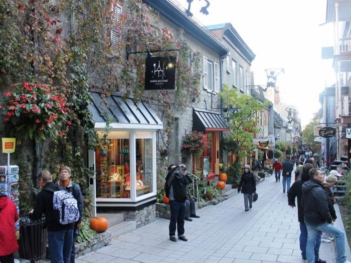 Los oficios para los cuales Quebec busca colombianos -- Calle Petit-Champlain en la ciudad de Quebec, Canadá.