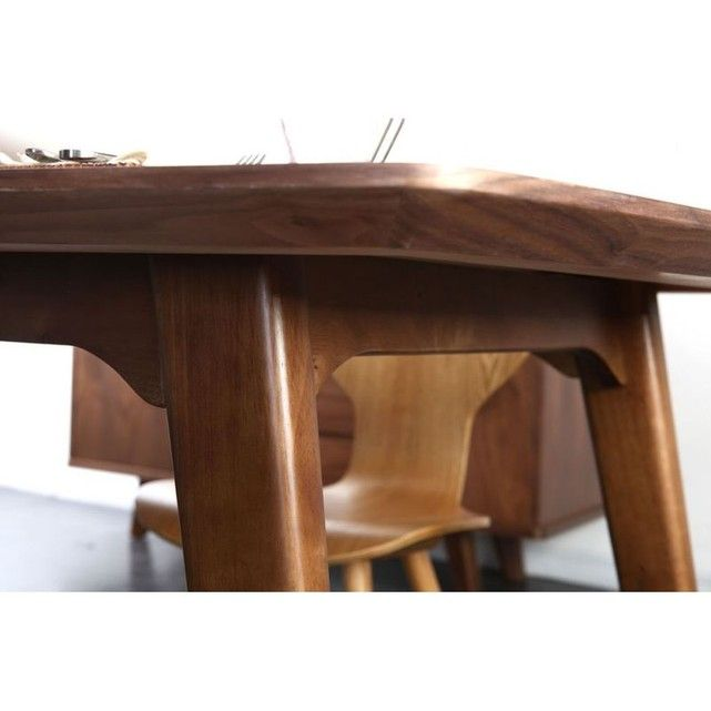 Table A Manger Design Extensible Noyer Fifties Miliboo Table Salle A Manger Table A Manger Design Table A Manger
