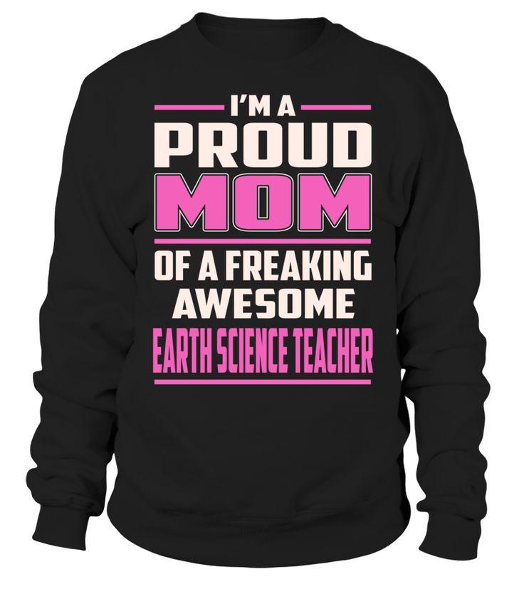 Earth Science Teacher Proud MOM Job Title T-Shirt #EarthScienceTeacher