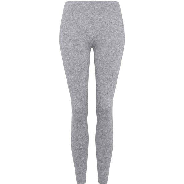 TopShop Basic Ankle Leggings (47 BRL) ❤ liked on Polyvore featuring pants, leggings, bottoms, jeans, light grey, elastic waistband pants, topshop leggings, elastic waist pants, light gray pants and legging pants