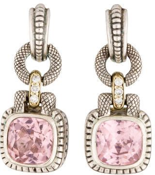 Judith Ripka Quartz and #Diamond Drop Earrings
