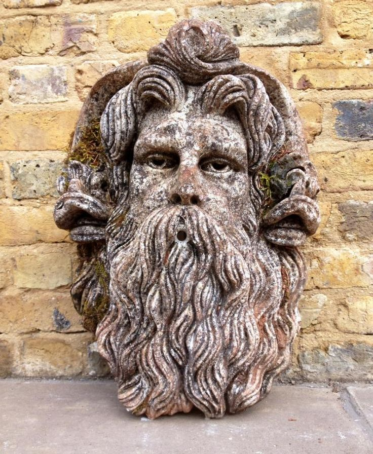 Reclaimed stone Neptune garden fountain for sale on SalvoWEB from VV Reclamation in Hertfordshire [Salvo code] #discoversalvage