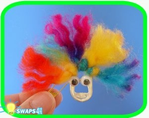 Camp Hair   Scout SWAPS Girl Craft Kit -Swaps4Less Use pop tops from soda cans to make 'friends' with crazy hair and google eyes.