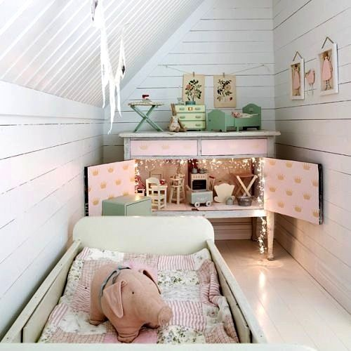 toddler small space room in attic