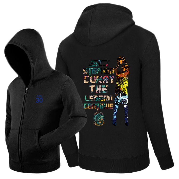 Stephen Curry Shot Color logo Warriors Zip-up hoodie sweatshirt cotton Jacket #Affiliate