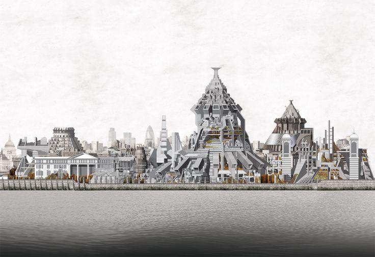 The London Brickworks project - Kiln elevation