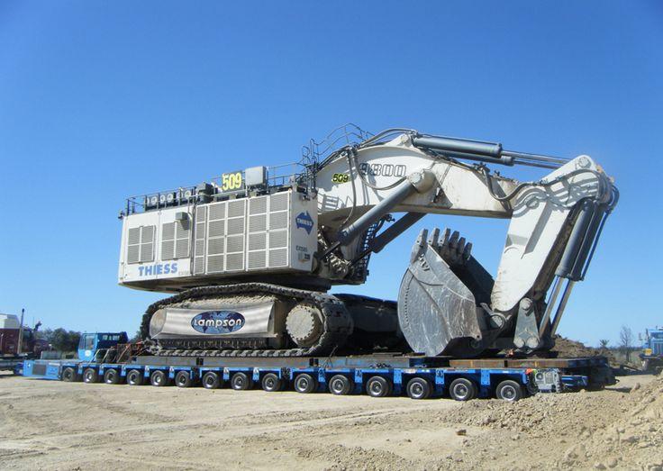 Rudarski hidraulicni bager Liebherr R9800 - zapremina 42,7 m3. 800t masina.