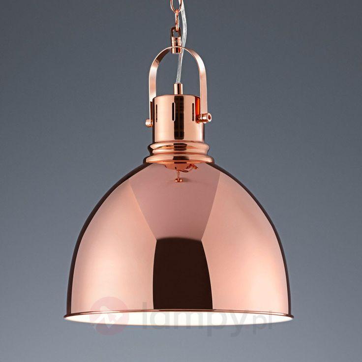 Miedziana lampa wisząca Tores 9004917