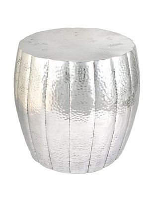 Bethel International Aluminum Stool, Silver