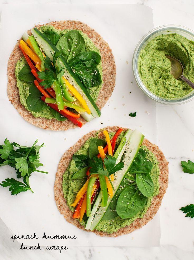 Spinach Hummus Lunch Wraps