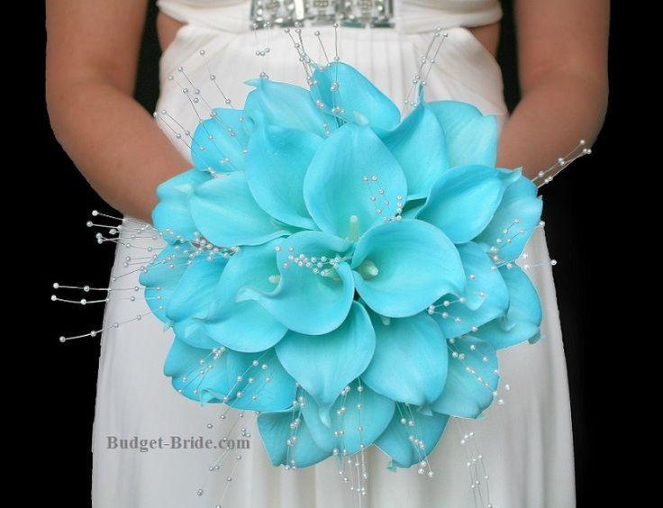 Tiffany Blue Calla Lily Wedding Flowers