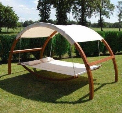 Leisure Season Patio Swing Bed With Canopy Backyard