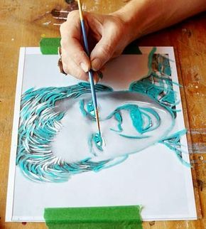 How to Paint Pop Art Portrait, could be fun color theory project, monochromatic, complementary or analogous colors.