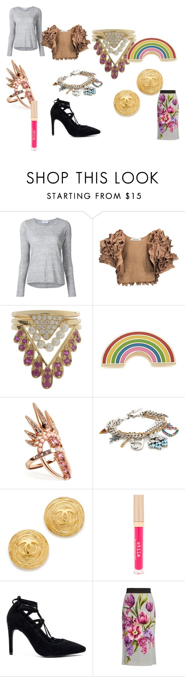 """Modalist Style"" by digitalshopping on Polyvore featuring Frame, Valentino, Yvonne Léon, Georgia Perry, Nikos Koulis, Marc Jacobs, Stila, Jeffrey Campbell and Dolce&Gabbana"