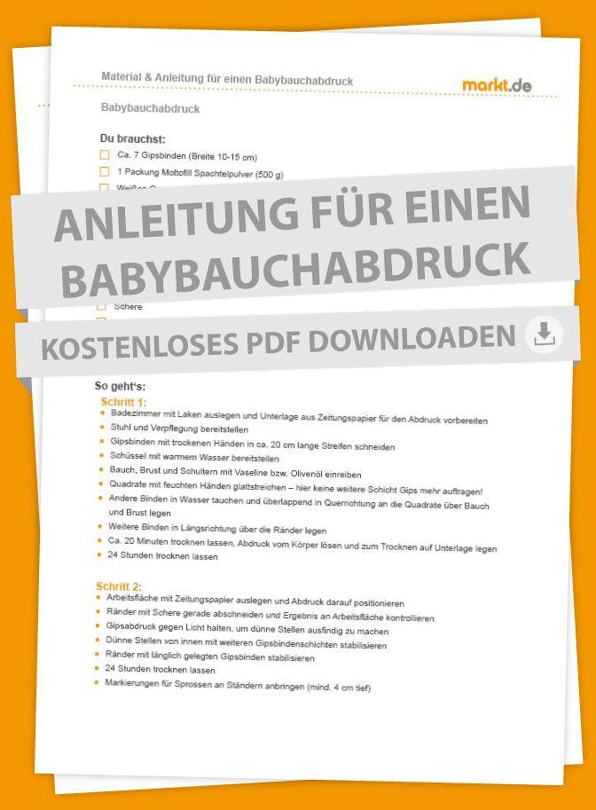 Anleitung für einen Babybauchabdruck | markt.de #baby #babybauchabdruck #babybauchabdruck #gipsabdruck #anleitung #checkliste