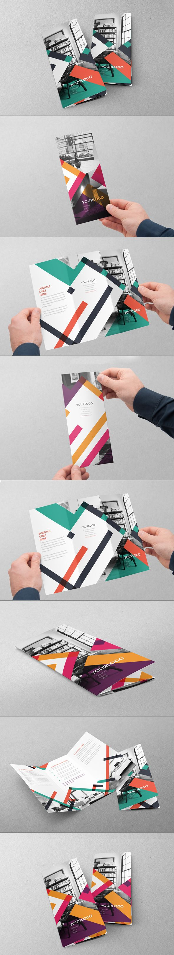 Colorful Stripes Trifold by Abra Design, via Behance