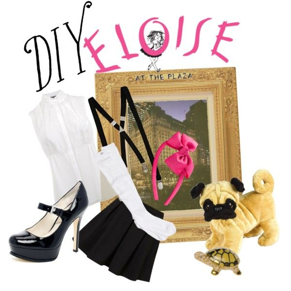 d i y eloise costume by tinkermellie on polyvore random lovelies pinterest costumes. Black Bedroom Furniture Sets. Home Design Ideas