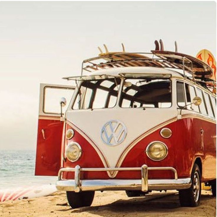 My mom and dad got me a mini version of a vw bus with a surfboard on the rack and it made my day!!❤