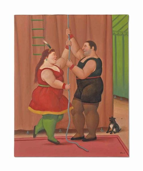 Artwork by Fernando Botero, Les Trapézistes, Made of oil on canvas