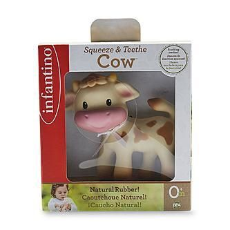 Infantino Cow Squeeze and Teethe Teether