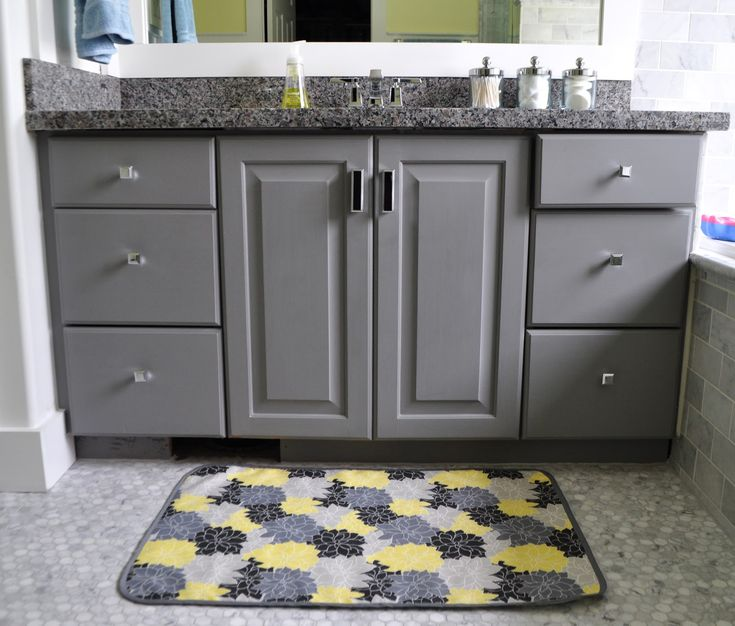 Best Charcoal And Yellow Bathroom Images On Pinterest Bedroom - Dark brown bath rugs for bathroom decorating ideas