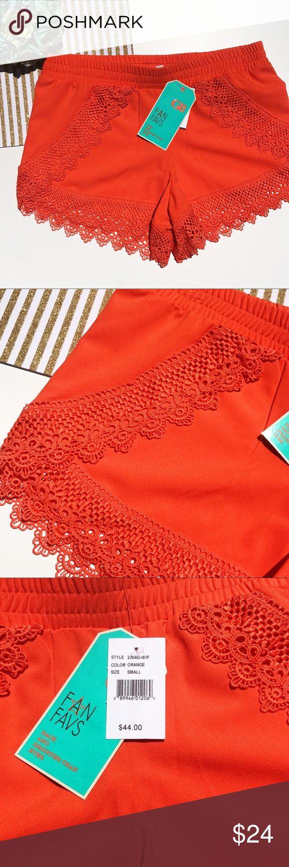 Gianni Bini bright orange short size small Brand new with tag Gianni Bini Shorts