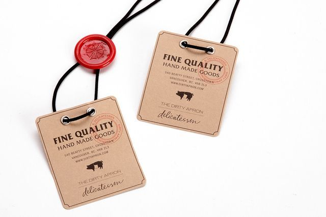 simple little tags with a wax seal