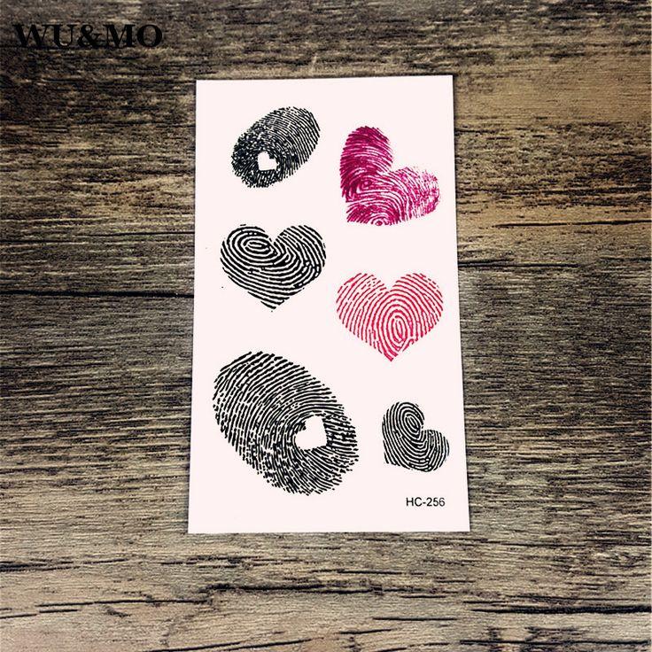 Resultado de imagen para tatuajes de huellas dactilares corazon
