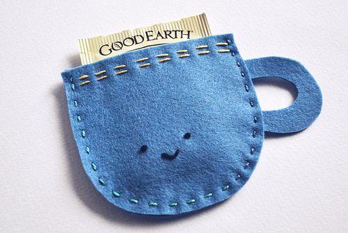 Felt tea bag holders--great gift idea