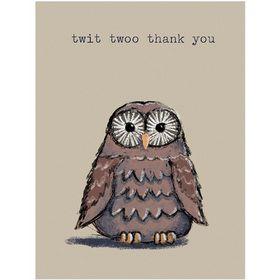 B036 Twit Twoo Thank You Gift Card. www.gailscards.com.au