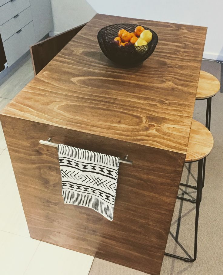 Plywood Custom made Kitchen island! From : @fab.signature