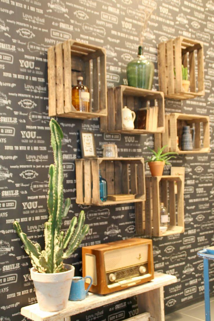 Heimtextil 2015 und SoLebIch-Treffen Weinkisten Wandgestaltung