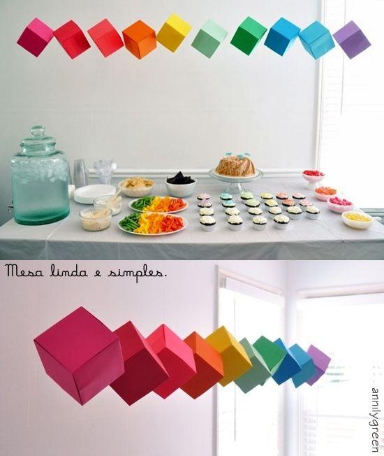 Festa arco-íris - dcoracao.com - blog de decoração